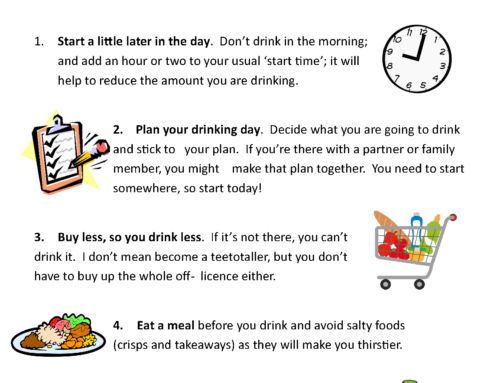 Reduce Alcohol Use Tips